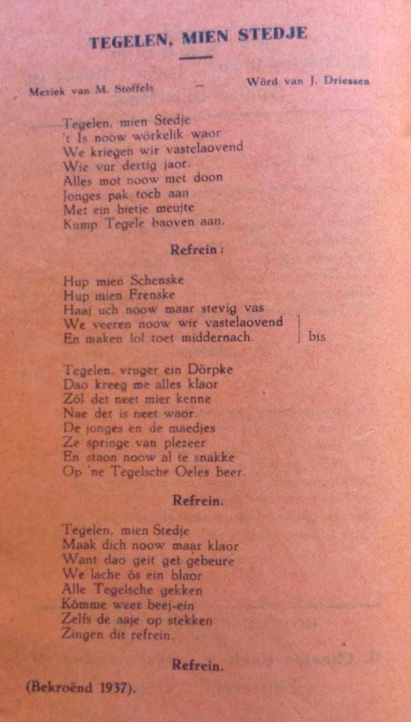 1937-1938 Tegelen mien stedje